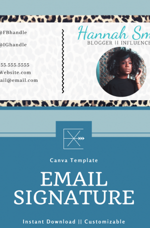 Email Signature Template – Leopard