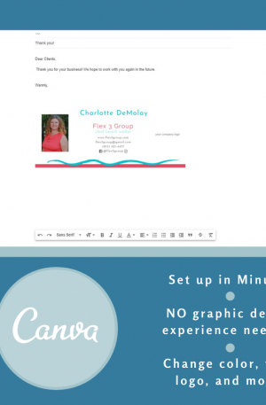 Email Signature Template – Tropical