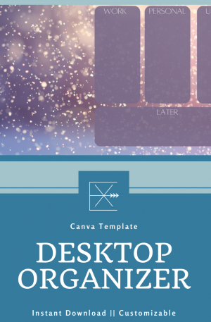 Seasonal Desktop Organizer – Winter